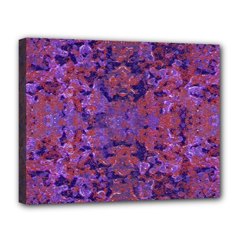 Intricate Patterned Textured  Canvas 14  x 11