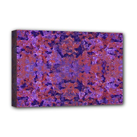 Intricate Patterned Textured  Deluxe Canvas 18  x 12