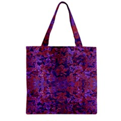 Intricate Patterned Textured  Zipper Grocery Tote Bags