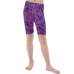 Intricate Patterned Textured Kid s Mid Length Swim Shorts