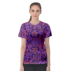 Intricate Patterned Textured Women s Sport Mesh Tees