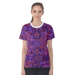 Intricate Patterned Textured Women s Cotton Tee