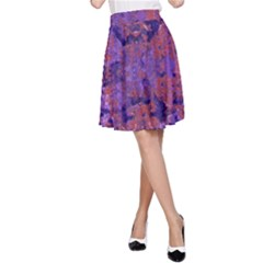 Intricate Patterned Textured A-Line Skirt