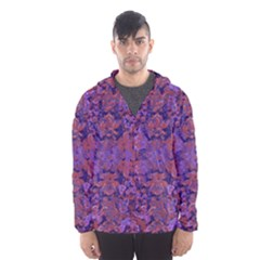 Intricate Patterned Textured Hooded Wind Breaker (Men)