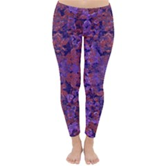 Intricate Patterned Textured Winter Leggings