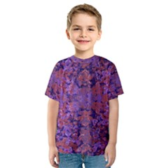 Intricate Patterned Textured Kid s Sport Mesh Tees