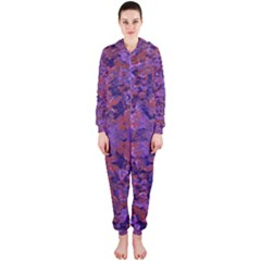 Intricate Patterned Textured Hooded Jumpsuit (Ladies)