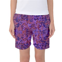 Intricate Patterned Textured Women s Basketball Shorts