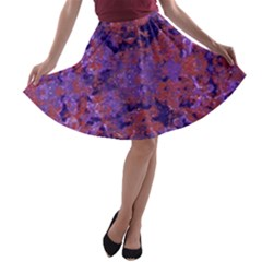 Intricate Patterned Textured A-line Skater Skirt