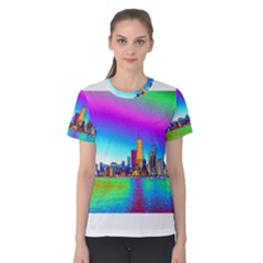 Chicago Colored Foil Effects Women s Cotton Tee