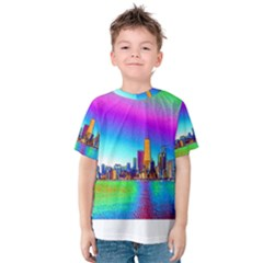 Chicago Colored Foil Effects Kid s Cotton Tee