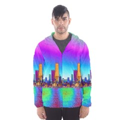 Chicago Colored Foil Effects Hooded Wind Breaker (Men)