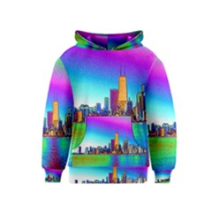 Chicago Colored Foil Effects Kid s Pullover Hoodies