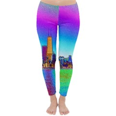 Chicago Colored Foil Effects Winter Leggings