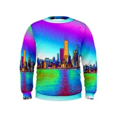 Chicago Colored Foil Effects Boys  Sweatshirts