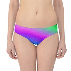 Chicago Colored Foil Effects Hipster Bikini Bottoms