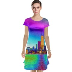 Chicago Colored Foil Effects Cap Sleeve Nightdresses