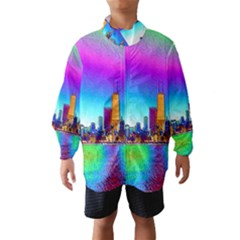 Chicago Colored Foil Effects Wind Breaker (Kids)