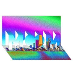 Chicago Colored Foil Effects Mom 3d Greeting Card (8x4)