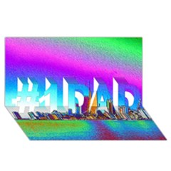 Chicago Colored Foil Effects #1 Dad 3d Greeting Card (8x4)