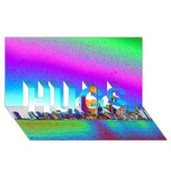 Chicago Colored Foil Effects HUGS 3D Greeting Card (8x4)