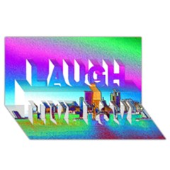 Chicago Colored Foil Effects Laugh Live Love 3D Greeting Card (8x4)