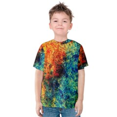 Orange Blue Background Kid s Cotton Tee
