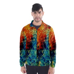 Orange Blue Background Wind Breaker (Men)