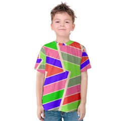 Symmetric distorted rectangles Kid s Cotton Tee
