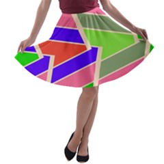 Symmetric Distorted Rectangles A Line Skater Skirt