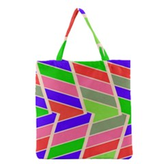 Symmetric distorted rectangles Grocery Tote Bag