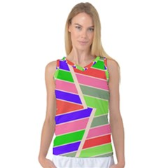 Symmetric Distorted Rectangles Women s Basketball Tank Top