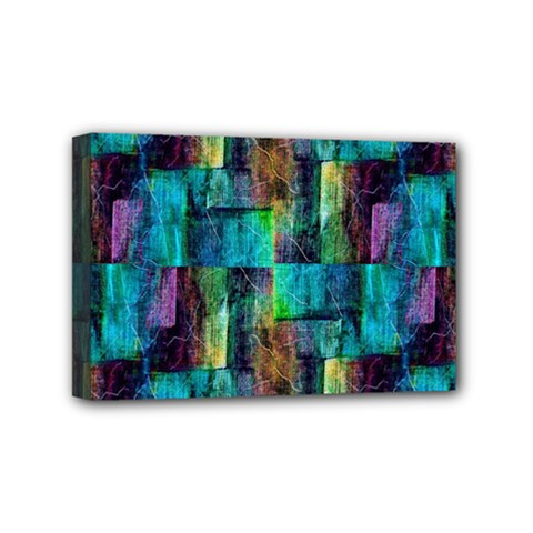 Abstract Square Wall Mini Canvas 6  x 4
