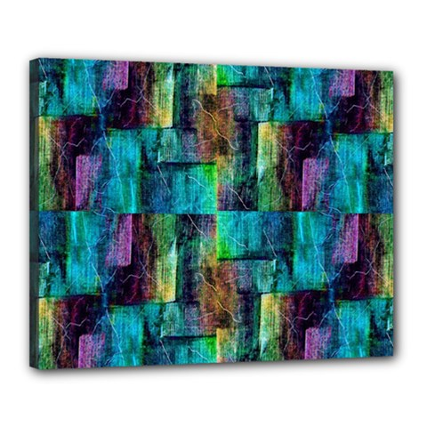 Abstract Square Wall Canvas 20  X 16