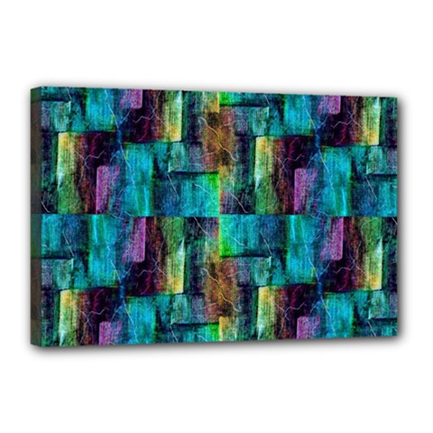 Abstract Square Wall Canvas 18  X 12