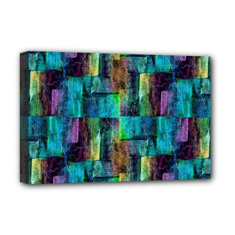 Abstract Square Wall Deluxe Canvas 18  X 12