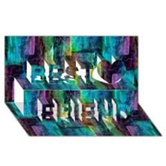 Abstract Square Wall Best Friends 3d Greeting Card (8x4)
