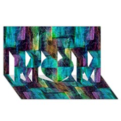 Abstract Square Wall Mom 3d Greeting Card (8x4)