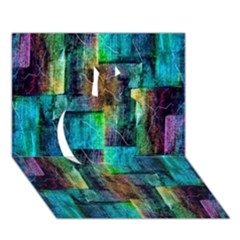 Abstract Square Wall Apple 3d Greeting Card (7x5)