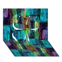 Abstract Square Wall Clover 3d Greeting Card (7x5)