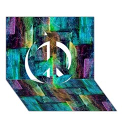 Abstract Square Wall Peace Sign 3D Greeting Card (7x5)