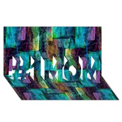 Abstract Square Wall #1 MOM 3D Greeting Cards (8x4)