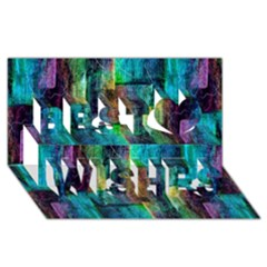 Abstract Square Wall Best Wish 3d Greeting Card (8x4)