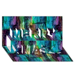 Abstract Square Wall Merry Xmas 3d Greeting Card (8x4)