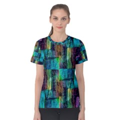 Abstract Square Wall Women s Cotton Tee