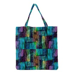 Abstract Square Wall Grocery Tote Bags