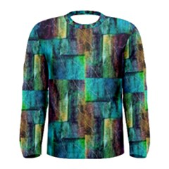 Abstract Square Wall Men s Long Sleeve T-shirts