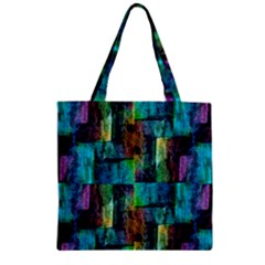 Abstract Square Wall Zipper Grocery Tote Bags