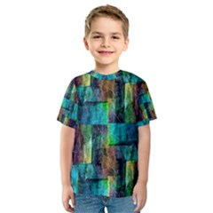 Abstract Square Wall Kid s Sport Mesh Tees