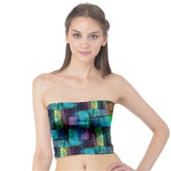 Abstract Square Wall Women s Tube Tops